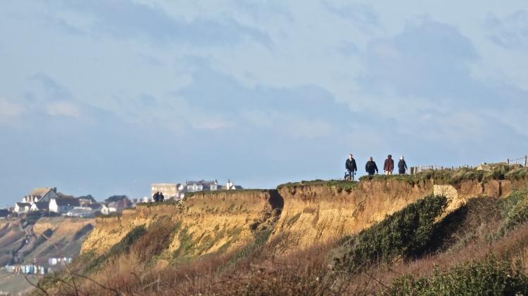 Walkers on clifftop