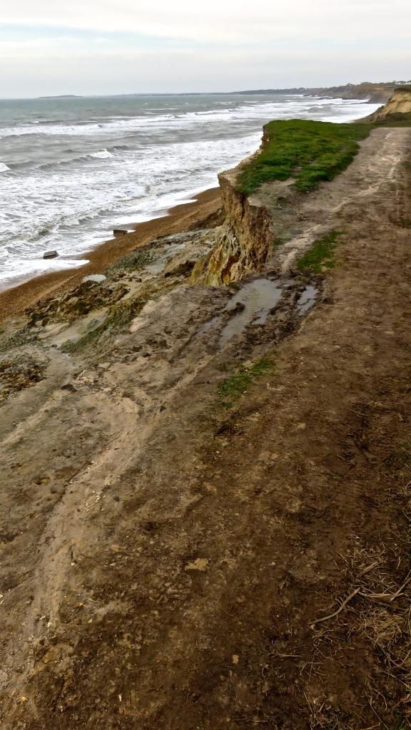 Crumbling footpath