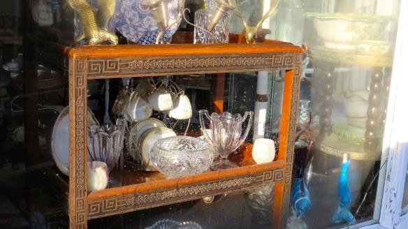 Glassware in The Village window