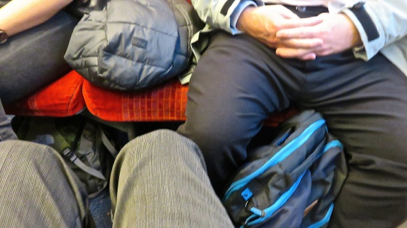 Knees in train