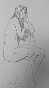 Life drawing - dancer