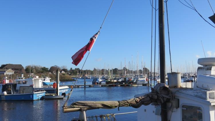 Quay and flag