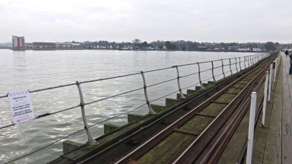 Railway on pier