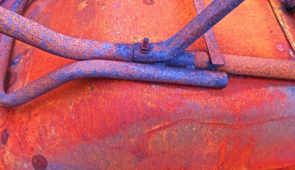 Rust on wheelbarrow