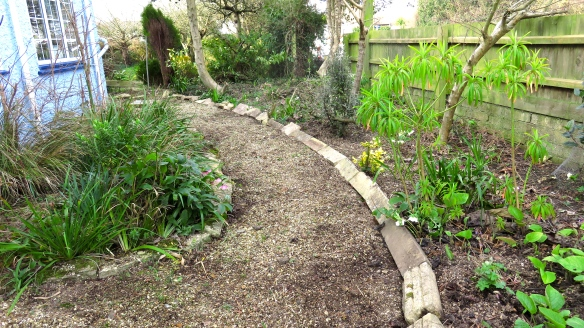 Front path lined