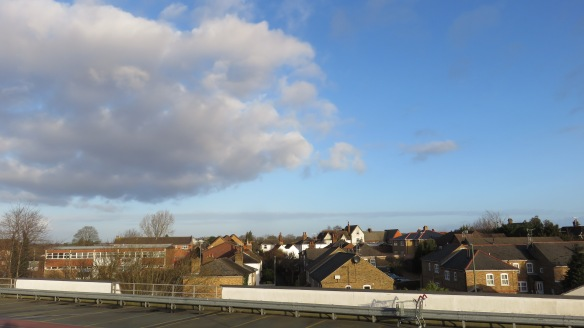 Rooftops and supermarket trolley