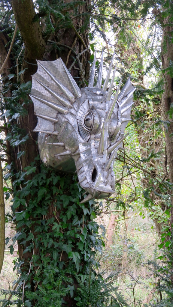 Dragon's head sculpture