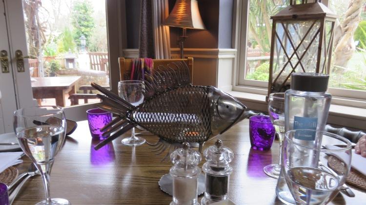 Fish table decoration