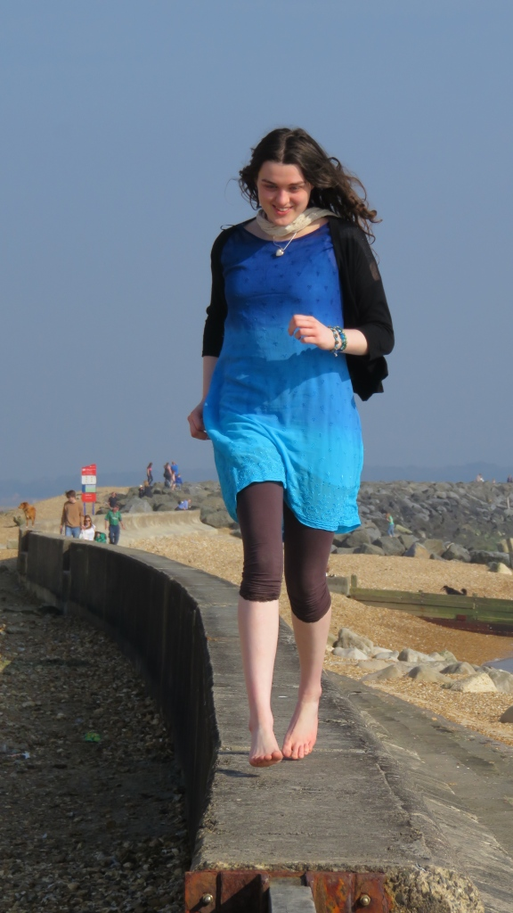 Flo on sea wall 3