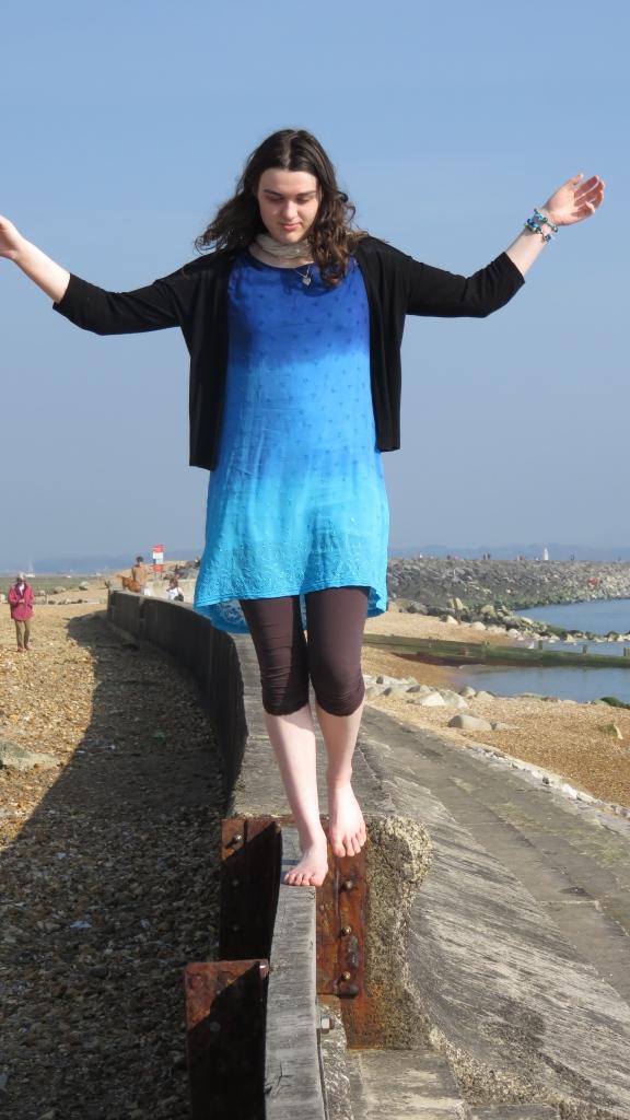 Flo on sea wall 5