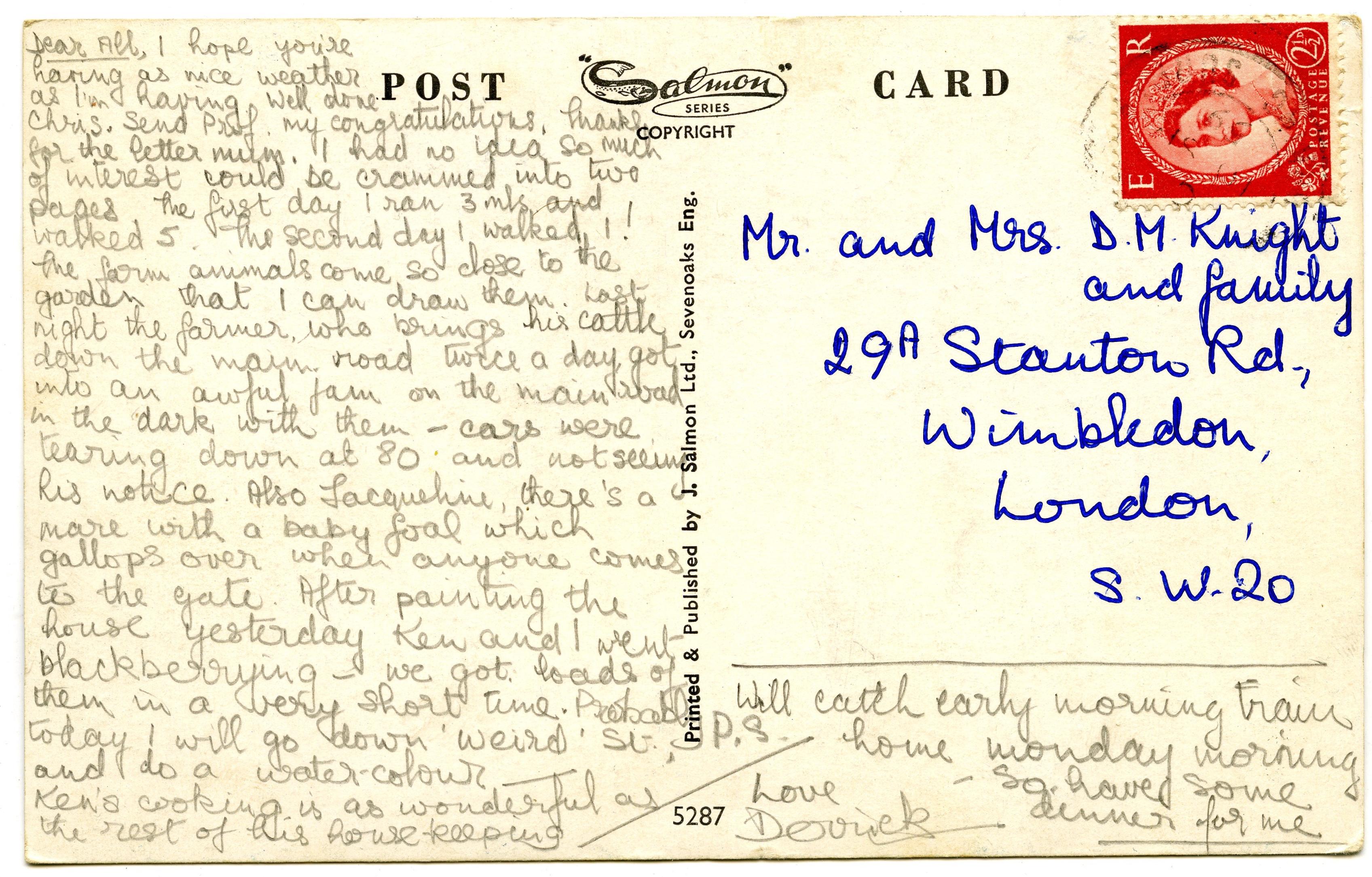 Postcard 1958