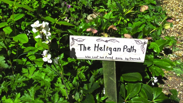 The Heligan Path sign