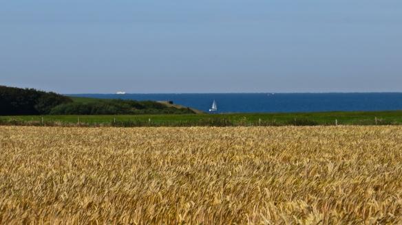 Christchurch bay, yacht, ship, barley