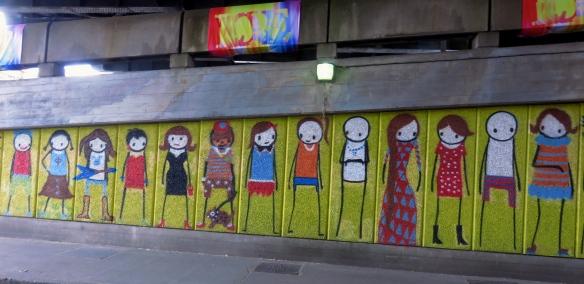 Figures on wall