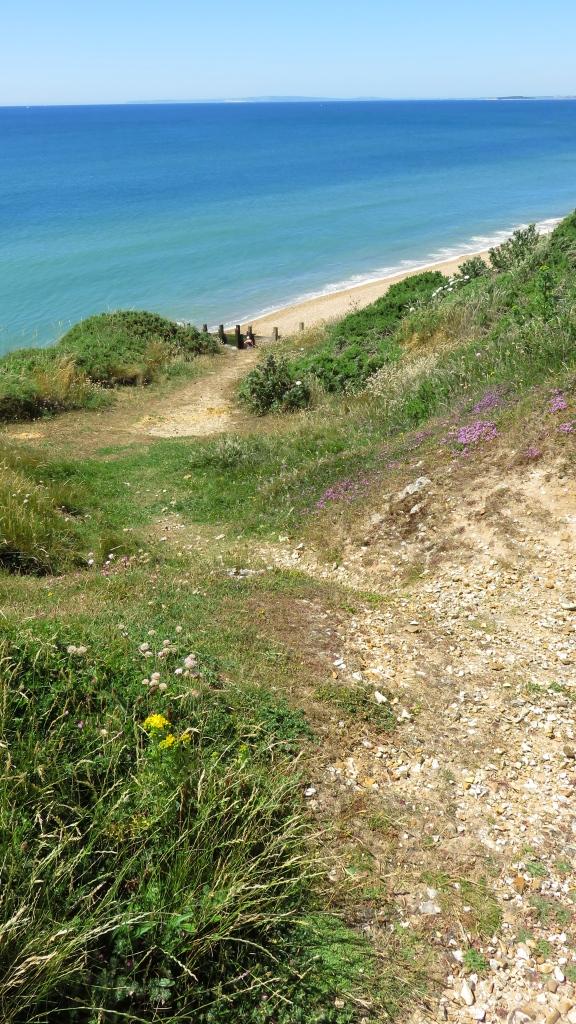 Footpath down cliff