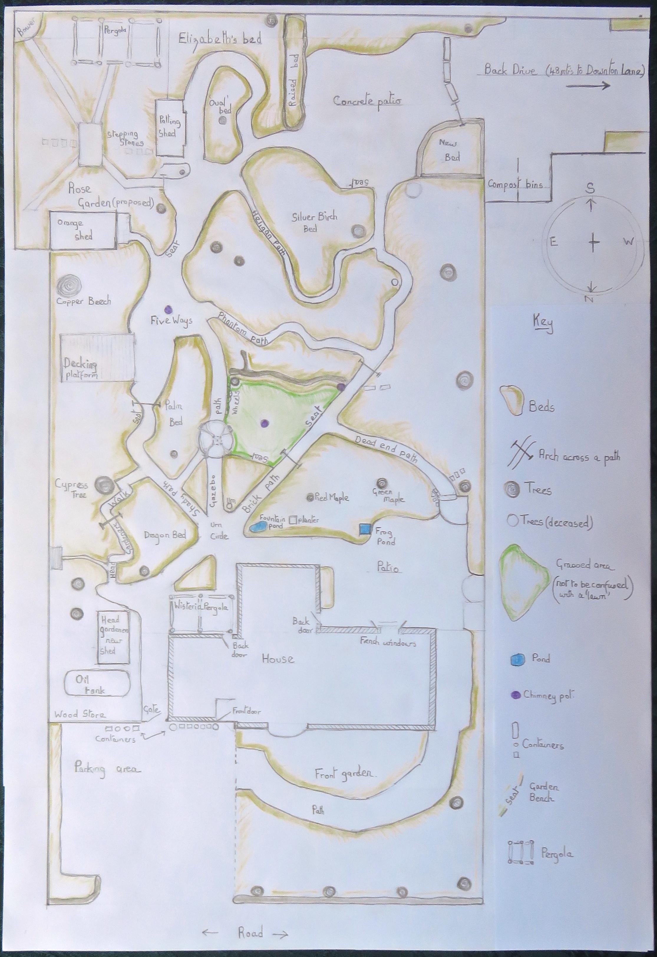 Neither John Nor His Wife Garden Map