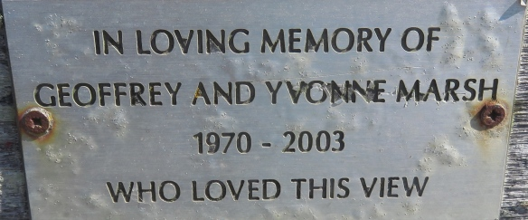Geoffrey and Yvonne Marsh memorial