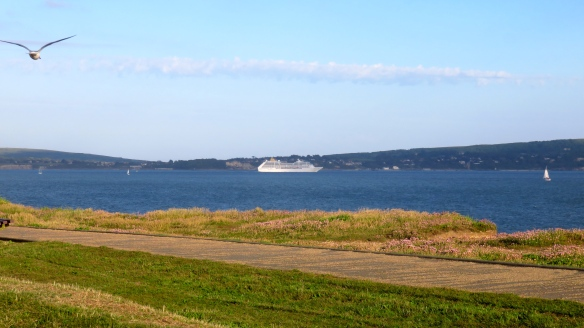 P&O cruise ship and yachts on The Solent
