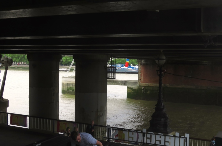 River Thames under railway bridge
