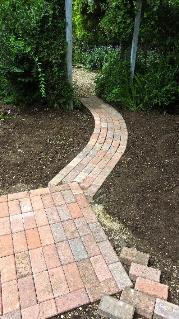 Rose garden paving stage 2