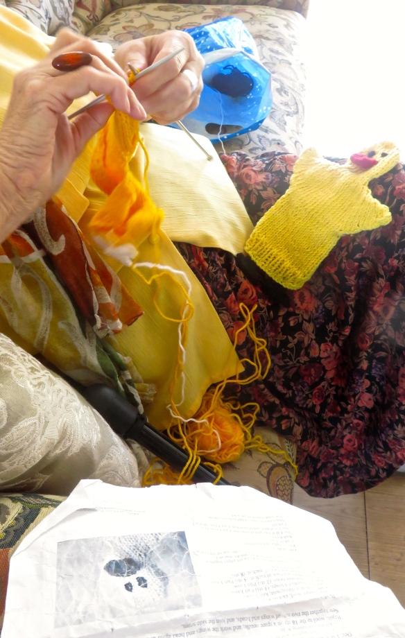 Sheila knitting 2