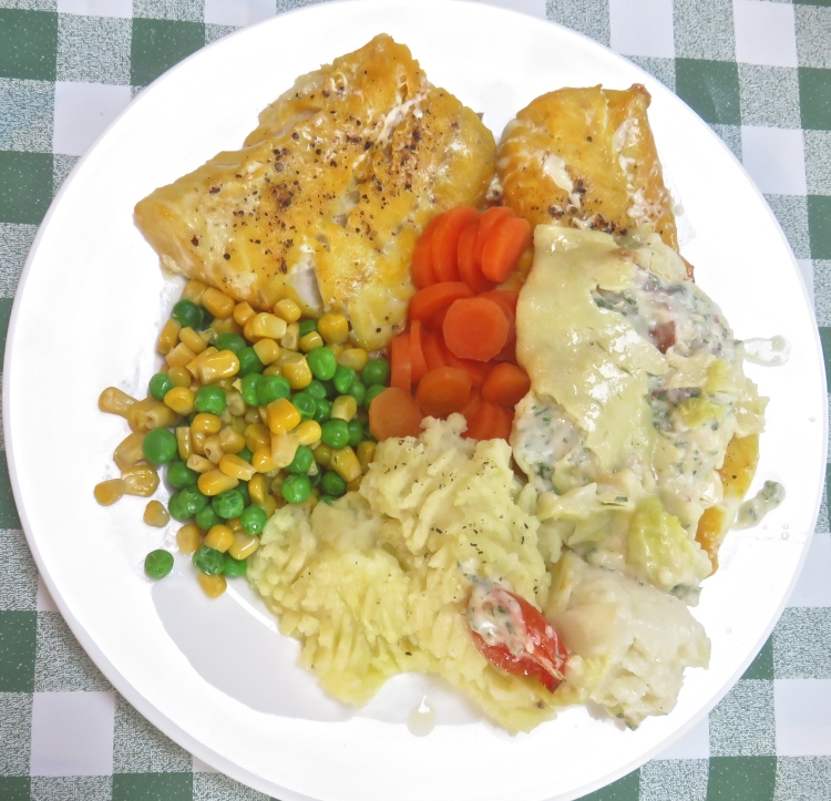 Smoked cod meal