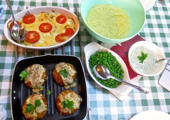 Smoked haddock fishcakes meal