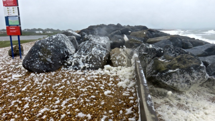 Spume on rocks 2