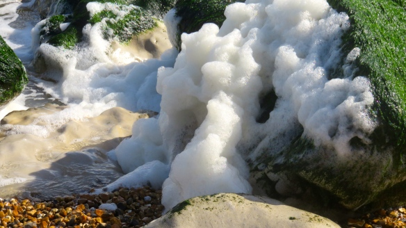 Spume on rocks 4