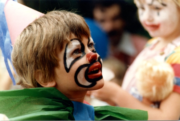 Boy watching Punch and Judy 1 1985