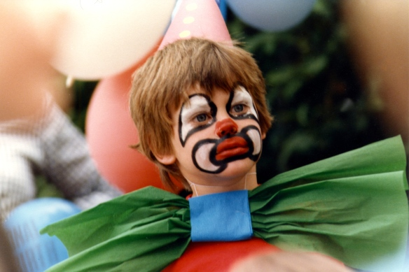 Boy watching Punch and Judy 2 1985
