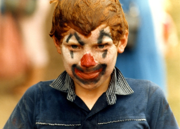 Boy with painted face 1985