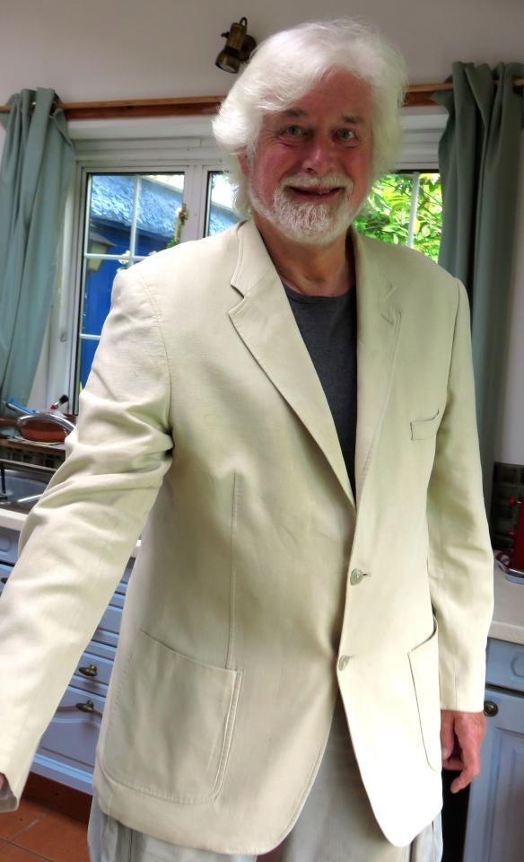 Derrick's linen jacket