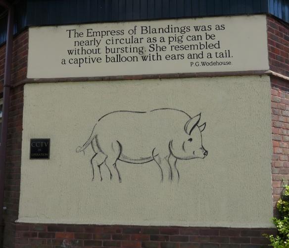 Empress of Blandings mural