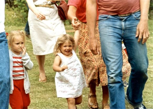 Louisa joining race 1985