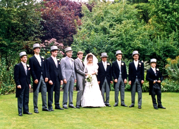 Michael & Heidi wedding Couple, Derrick & ushers 5.10.91