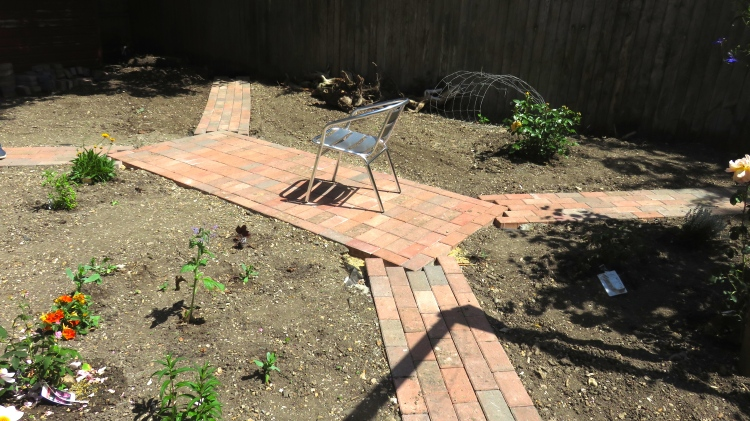 Rose garden paving stage 5