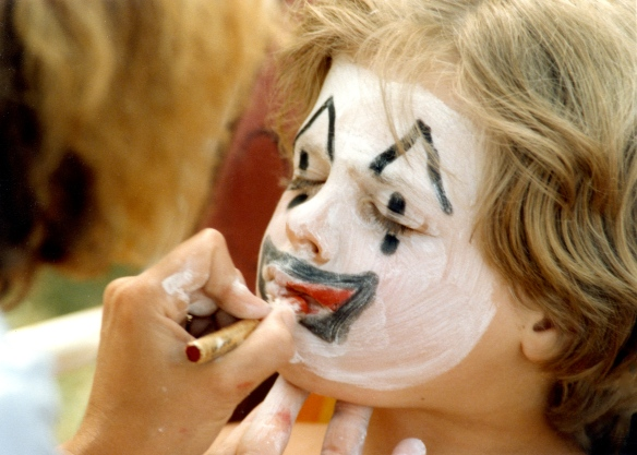 Sam's face painting 1 1985