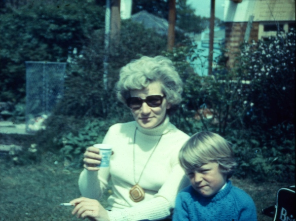 Unknown woman and boy