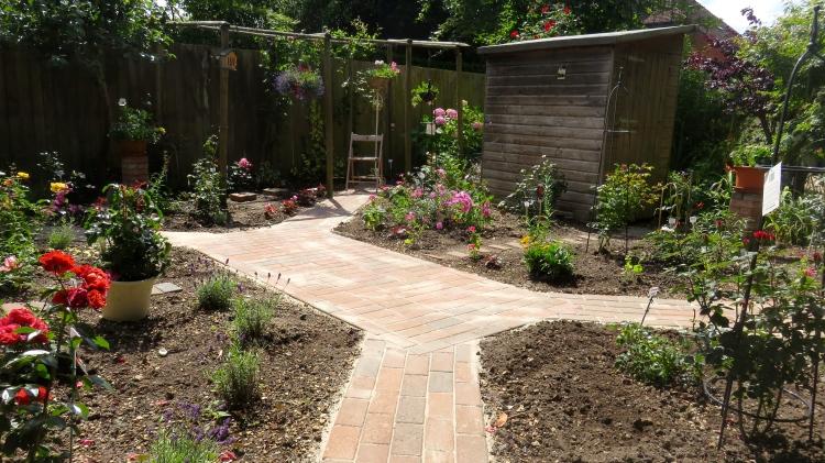 View across Rose Garden from second armchair