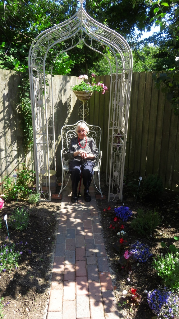 stupendous garden archway. Margery tried out the armchair under arch  derrickjknight