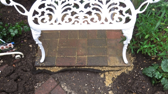 Paving for bench
