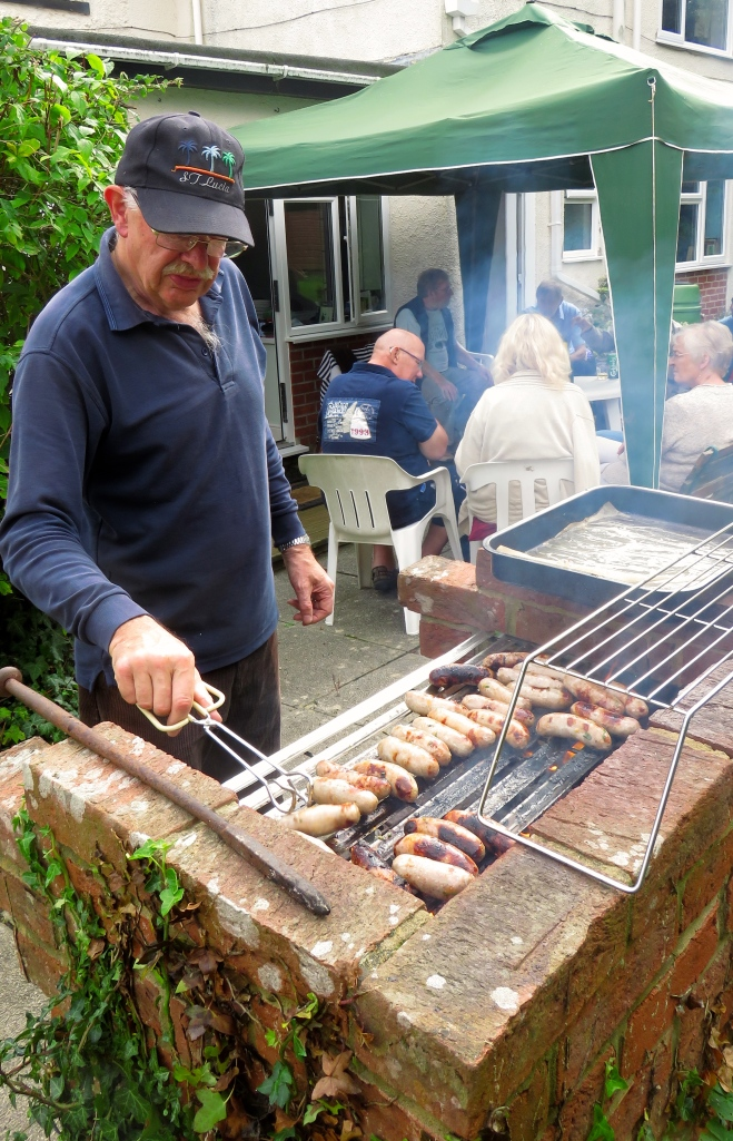 Ron barbecueing