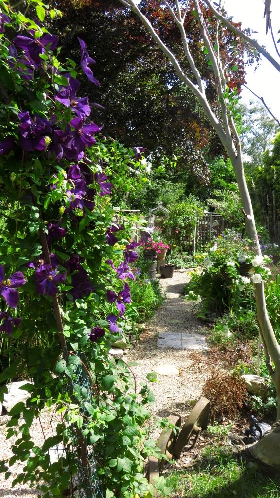 View down Pergola Path