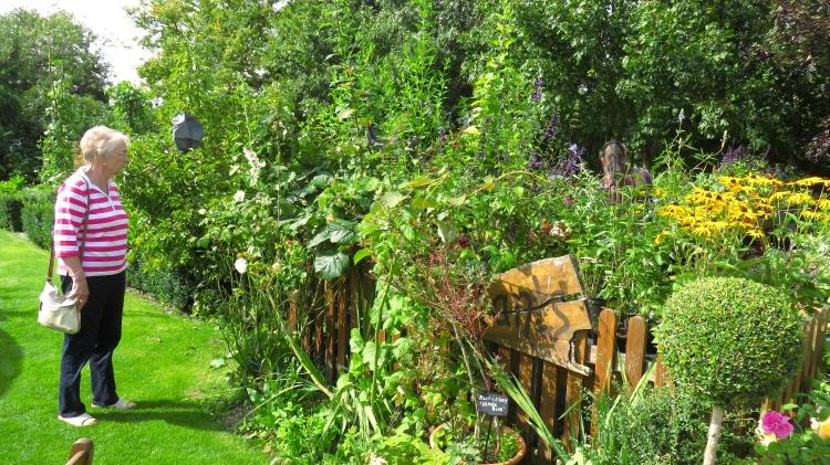 Helen and Jackie in garden