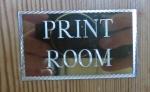 Print Room sign