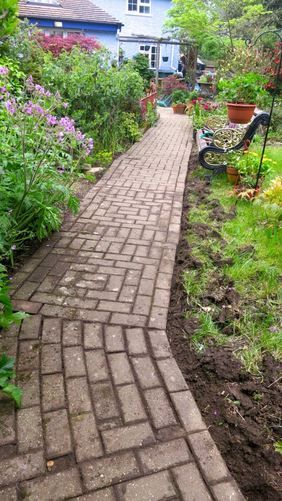 Brick radial path cleared
