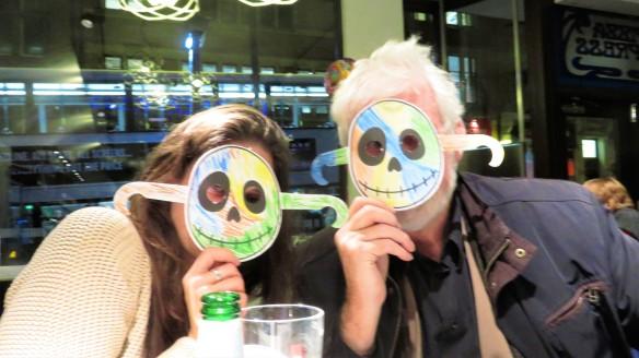 Derrick and Louisa masked