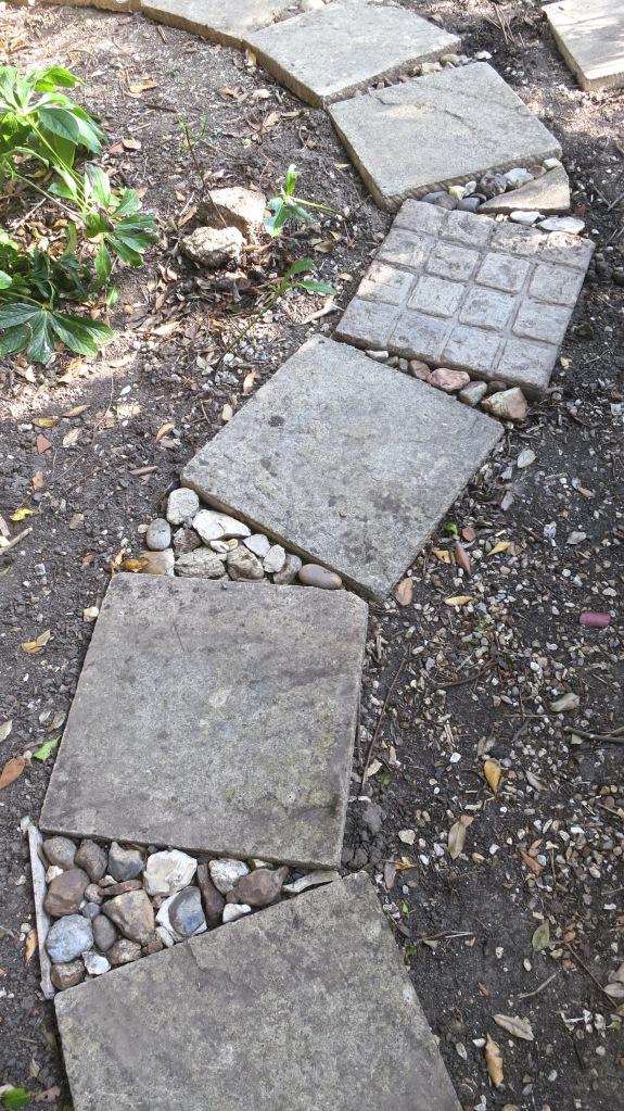 Stones in path