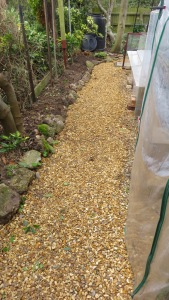 Front gravel path
